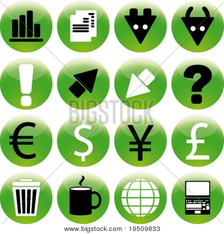 Set icon Stock Exchange