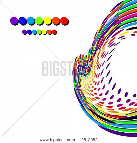 Bright creative background. On a white background
