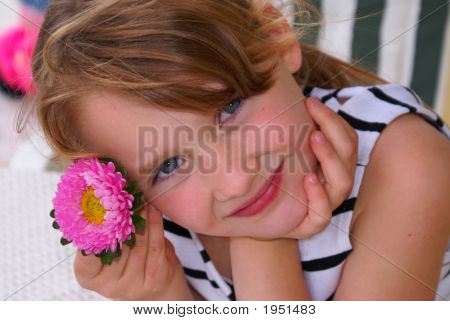 A Girl With The Flower