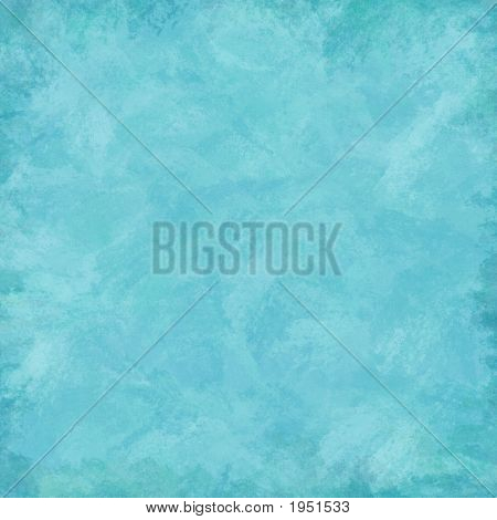 Aqua Blue Grunge Painted Background