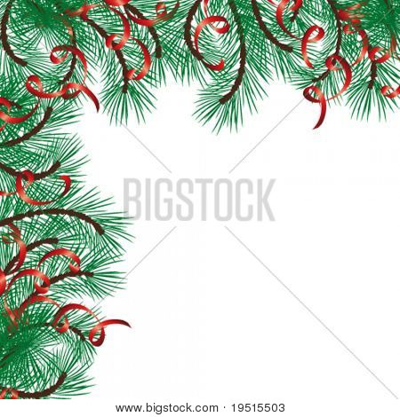 Christmas background with a space for your text. Very easy to edit vector illustration. Enjoy!