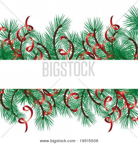 Christmas background with a space for your text. Very easy to edit vector file. Enjoy!