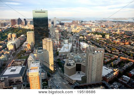 Boston's Panorama From Prudential Tower