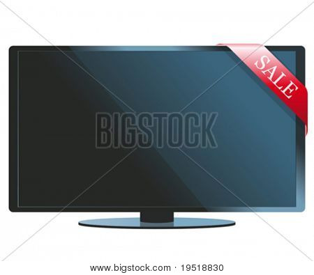 LCD TV set on sale - an illustration for your design project.