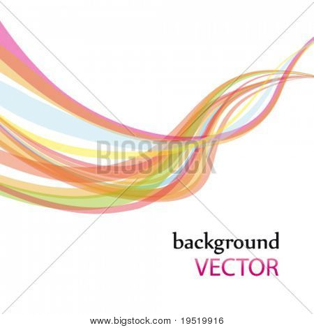 abstract rainbow wave line with a space for your text, vector illustration