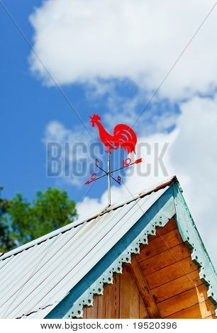Weathercock on a roof
