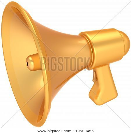 Megaphone golden sale announcement luxury icon