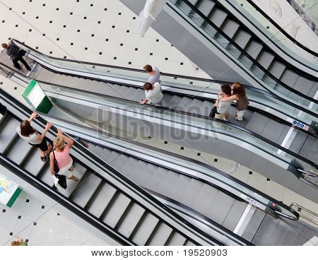 escalator in a big mall