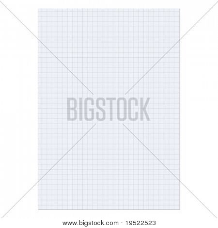 Paper sheet over a white background