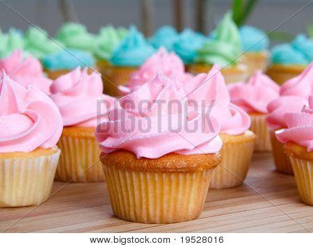 pink cupcake up close