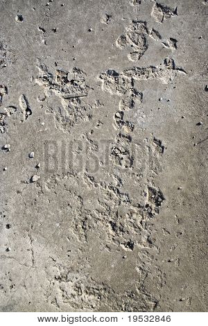 Old asphalt road surface texture with fissure