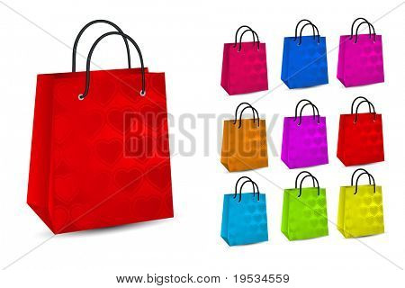 Set of colorful shopping bags.Vector illustration  Lots of colorful shopping bags ,vector illustration