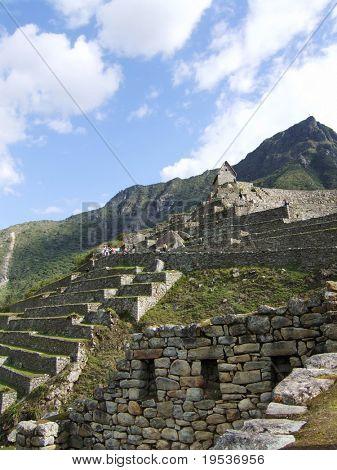 Incan ruins of Machu Picchu in Peru.