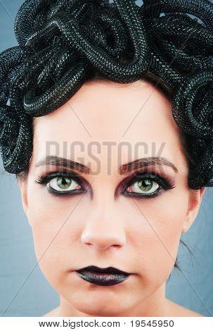 Woman depicting the concept og Evil (Medusa Gorgon)