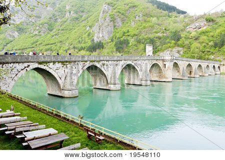bridge over Drina River, Visegrad, Bosnia and Hercegovina