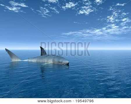 Big shark - digital artwork.