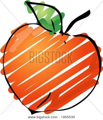 Sketch of a peach.