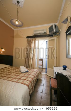 Greek Island Hotel Room