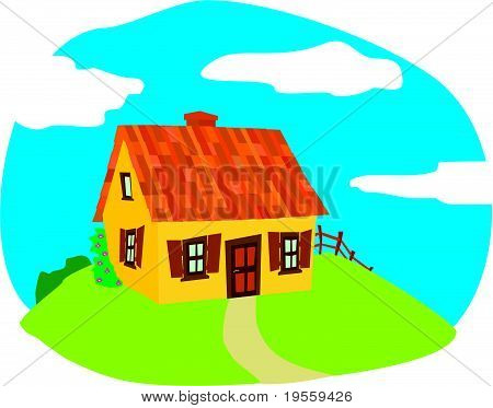 small house on the hill
