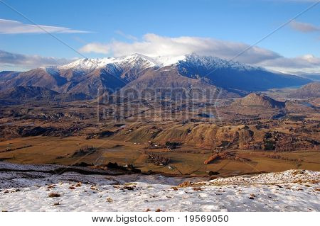 Lovely mountain view of the Remarkables, Southern Alps, New Zealand