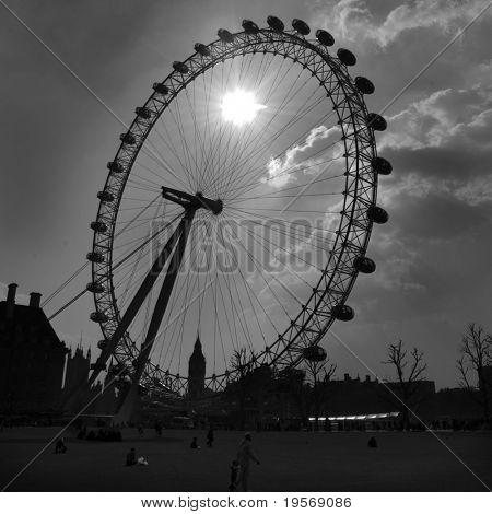 London Eye in the evening