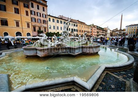 Panoramic view of Piazza Navona