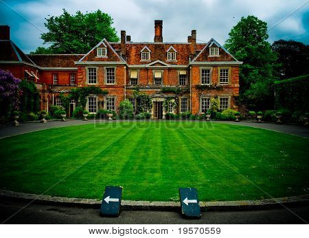 Stately English Home with royal gardens