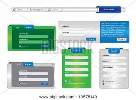 Web Design Frame elements