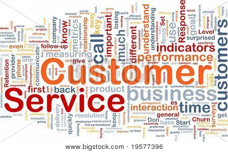 Background concept wordcloud illustration of customer service