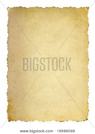 HIGH RESOLUTION old paper grunge background with a nice frame manually isolated on white