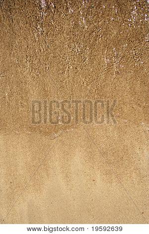 Sand texture on a beach