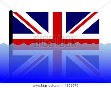 British Flag In Flood