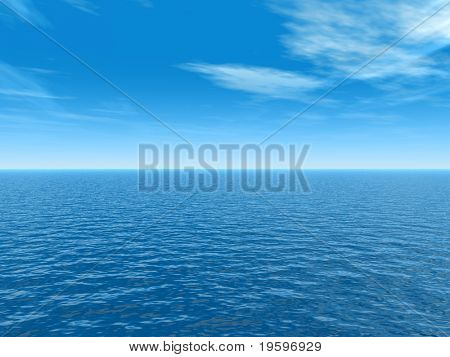 High resolution blue water and sky background