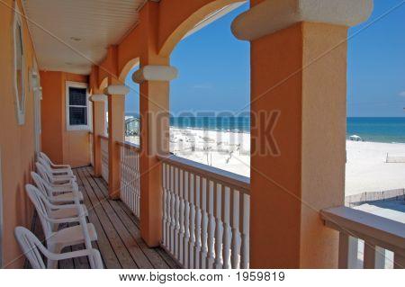 Strand-Haus-Balkon