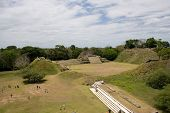 pic of ziggurat  - Arial Overview of Mayan Ruins at Altun Ha - JPG