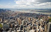 stock photo of the united states america  - Aerial view of Manhattan taken from the top of the Empire State Building in New York City - JPG