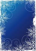 Snowflakes Christmas and New Year background, decorated grunge  white pattern of the Snowflakes on t