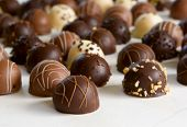 image of truffle  - chocolate truffle background  - JPG