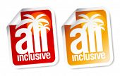 pic of all-inclusive  - All inclusive labels set - JPG