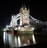 Tower Bridge, London at night