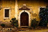 Постер, плакат: старое здание загородном стиле итальянского