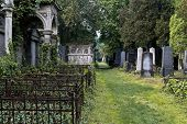 stock photo of burial-vault  - A savaged passage of the jewish part of Vienna - JPG