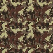 Постер, плакат: Vector Camouflage Pattern Vector Background Of Soldier Grey Camouflage Pattern Background Classic