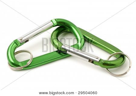key ring isolated on white background
