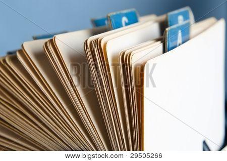 Rotary Card Index