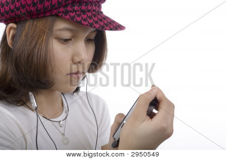 Teenager With Mp3