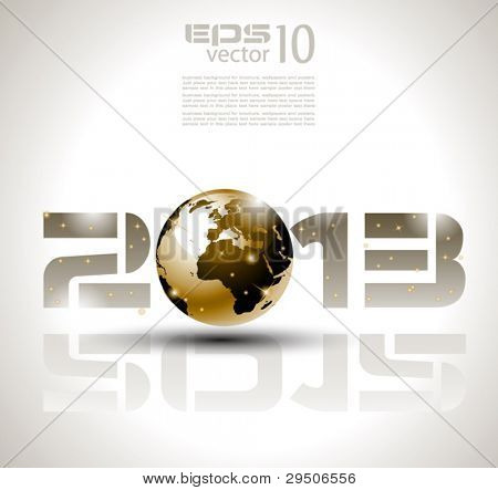 High tech and technology style 2013 happy new year celebration background for your posters, flyers and business presentations.