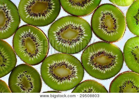 kivi drop fruit isolated on white background