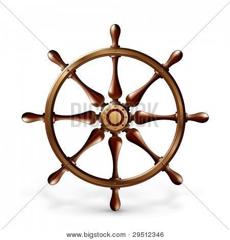 Ship's wheel, bitmap copy