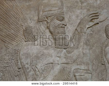 Ancient Assyrian wall carvings